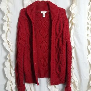 Diesel Super Chunky cable knit cardigan sweater